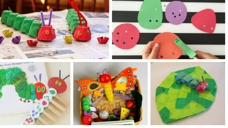 Paper Plate Caterpillar Very Hungry Activities