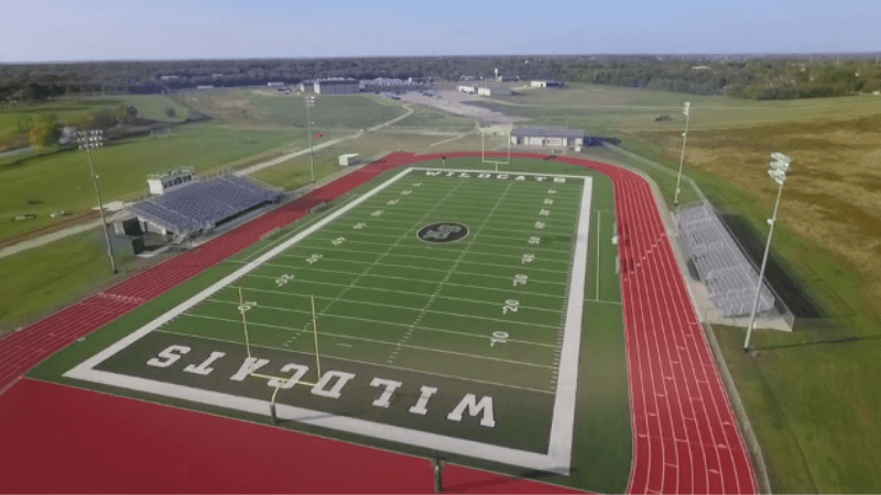 Arial View of Scurry-Rosser Athletic Field - Update School Facilities