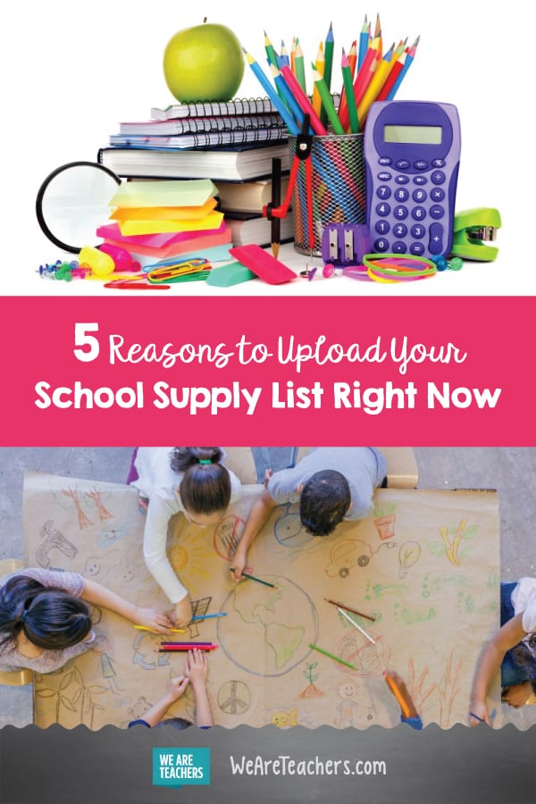 5 Reasons to Upload Your School Supply List Right Now
