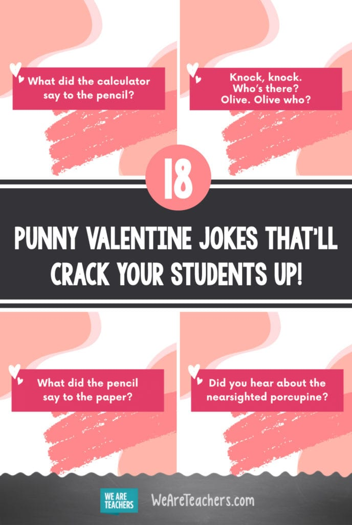 18 Punny Valentine Jokes That'll Crack Your Students Up!
