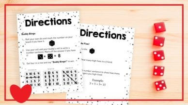 Free Printable Valentine's Day Centers for the Classroom - Math & Literacy