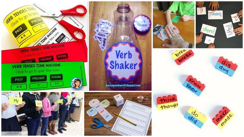Collage of Verb Tenses Activities