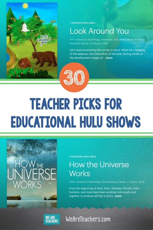 30 Teacher Picks for Educational Hulu Shows