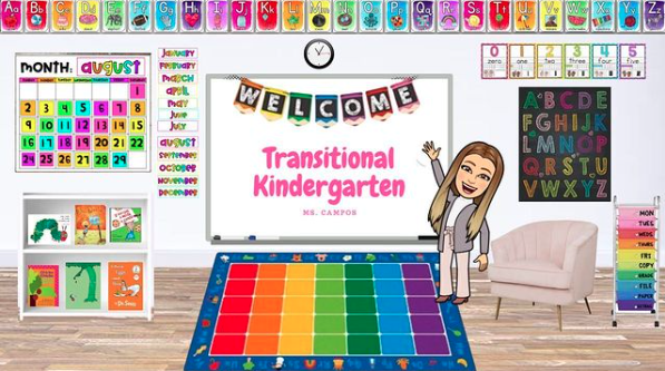 Welcoming classroom using Bitmoji