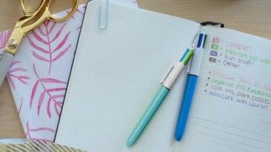 A notebook planner