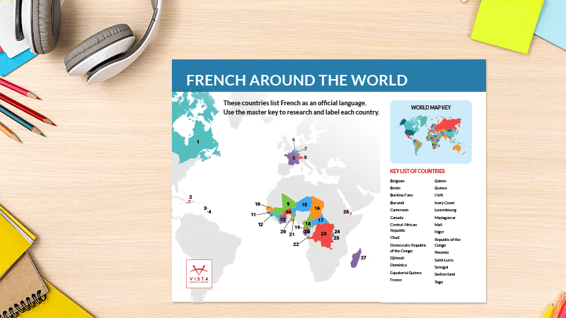 Language-Map-Posters-French