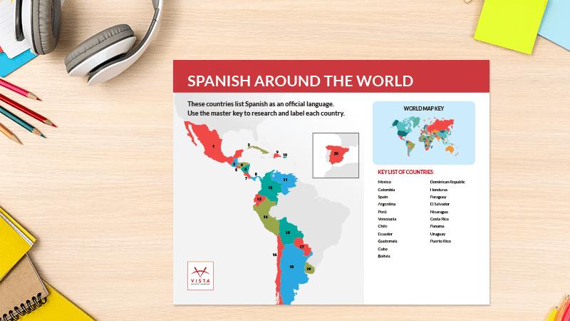 Language-Map-Posters-Spanish