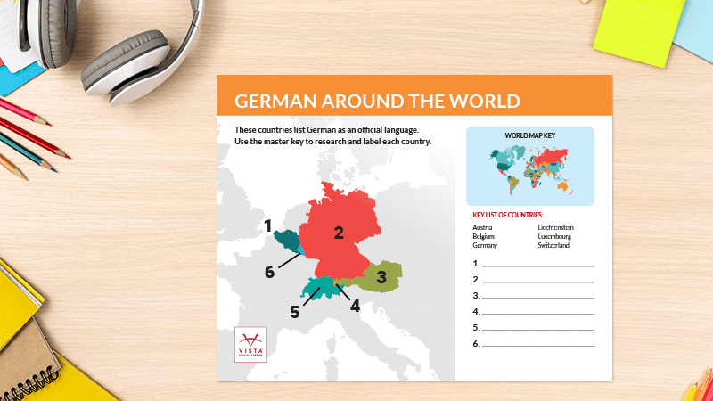 Language-Map-Posters-German