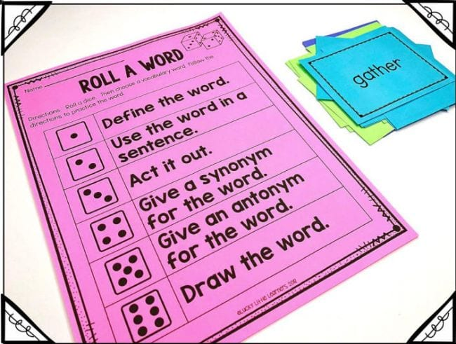Vocabulary Activities Lucky Little Learner