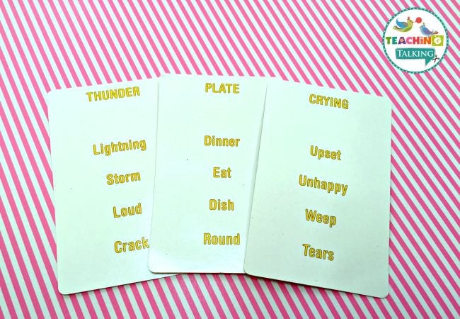 Vocabulary Activities Teaching Talking