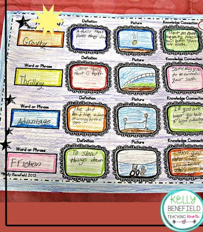 Vocabulary Activities Upper Elementary Snapshots