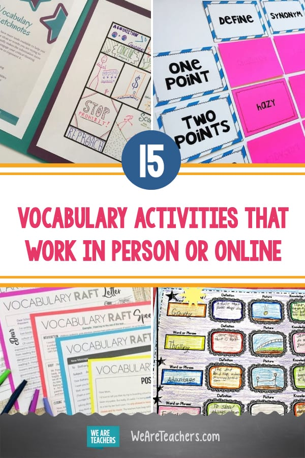 15 Meaningful Vocabulary Activities That Work In Person or Online
