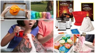 Collage of Volcano Science Experiments
