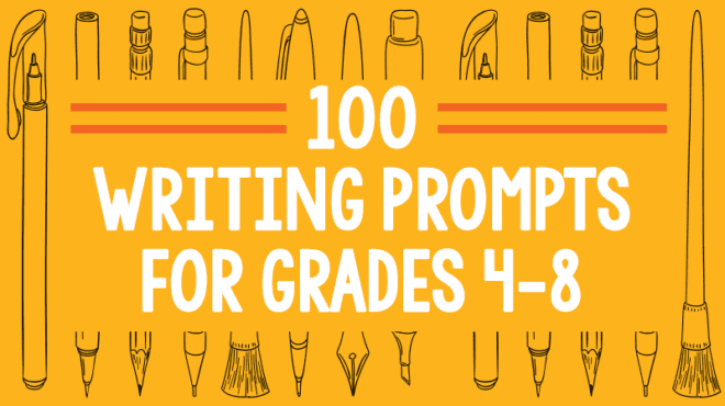 100 Creative Writing Prompts for Grades 4-8 - Free PowerPoint