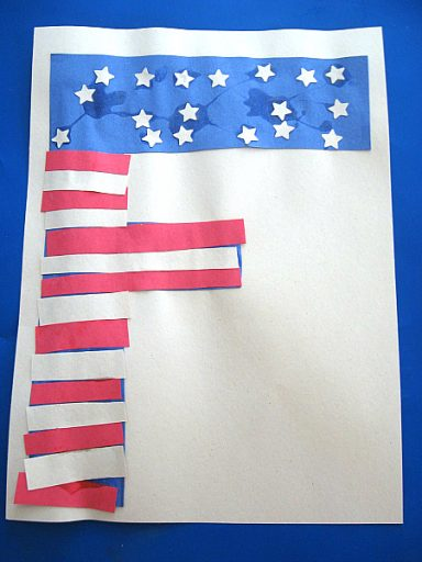 """Flag in the shape of the letter """"F"""""""