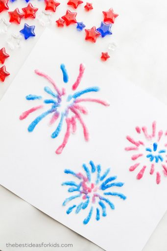 Fireworks made of salt paint -- fourth of july activities