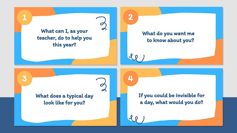 Four Questions to get to know your elementary student
