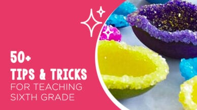 6th grade tips and tricks with a science experiment background