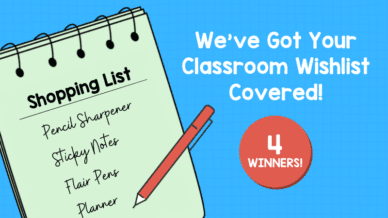 We've Got Your Classroom Wishlist Covered! Win a $250 Amazon Gift Card