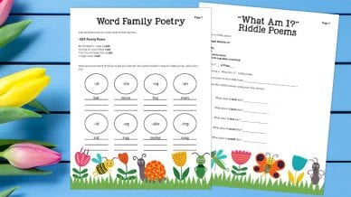 Poetry Activities for Grades K-3