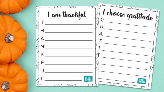 Free Printable Thanksgiving Acrositc Templates