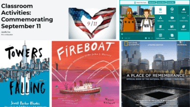 """""""Towers Falling,"""" """"Fireboat,"""" """"A Place of Remembrance,"""" and Brainpop are all ways to learn about 9/11."""