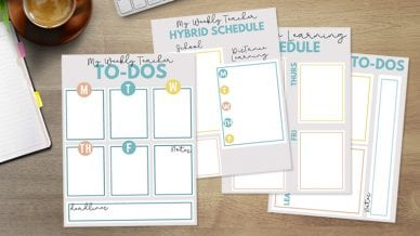 Free Printable Weekly To-Do Checklists for Teachers.