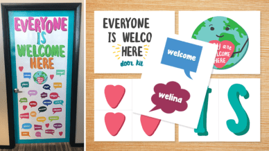 Get this Printable Door Kit to Show Everyone is Welcome