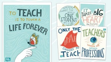 5 Free Inspirational Teaching Posters