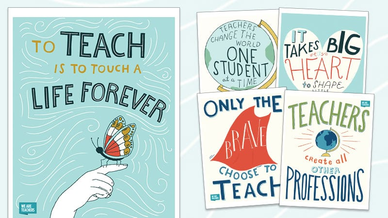 free inspirational teaching posters to save and print