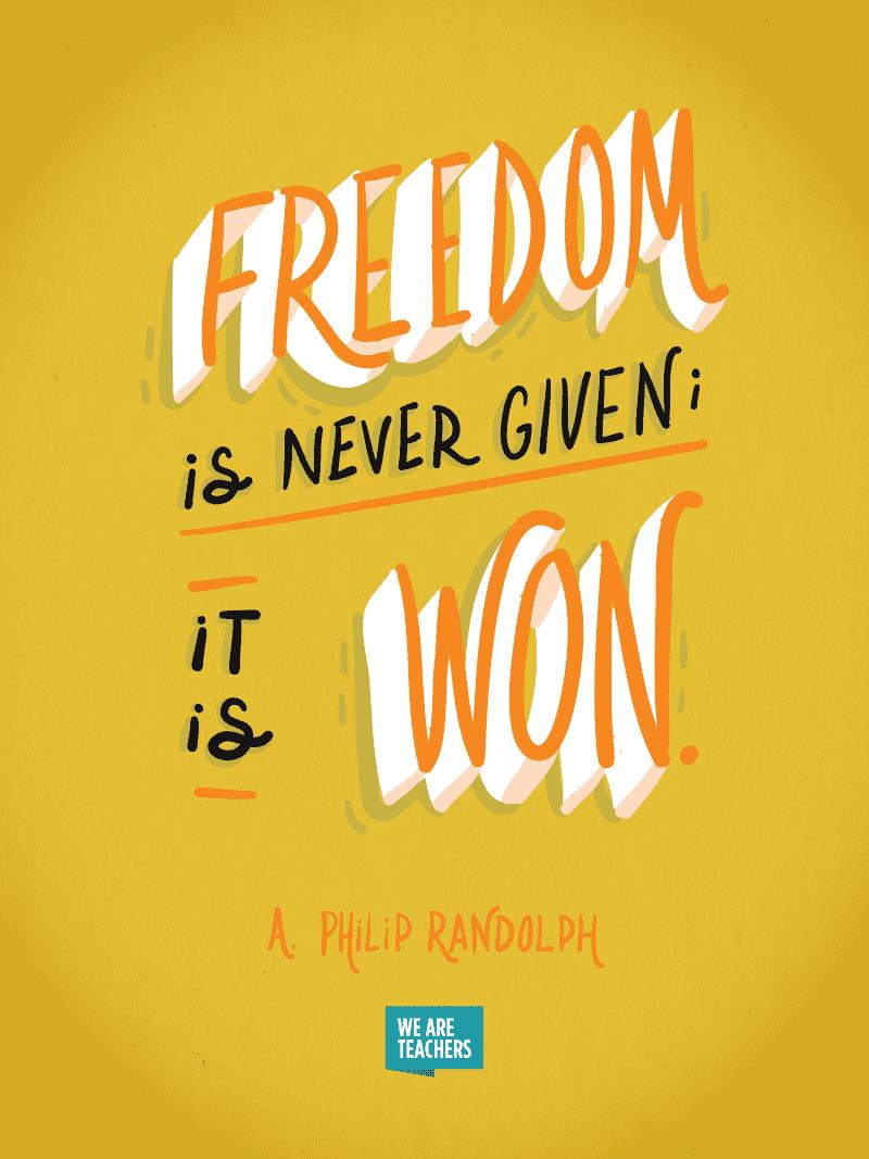 Philip Randolph Quote