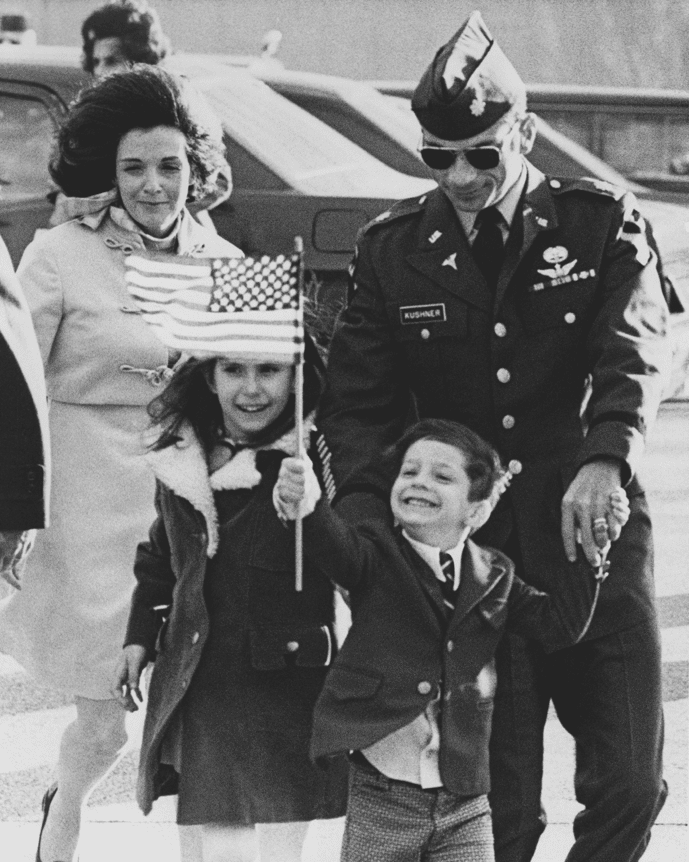 Former POW Dr. Hal Kushner reinites with his family