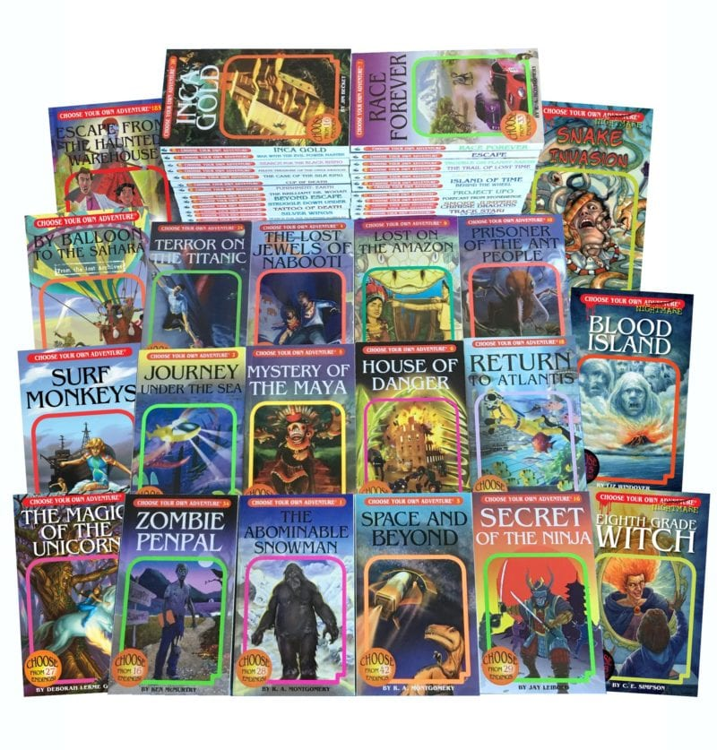 Collection of Choose Your Own Adventure books