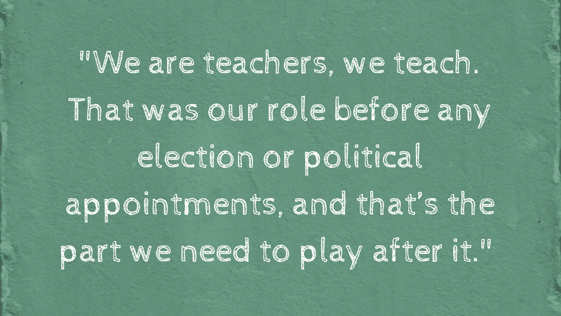 We are teachers, we teach - From Why Compassion Trumps Current Events