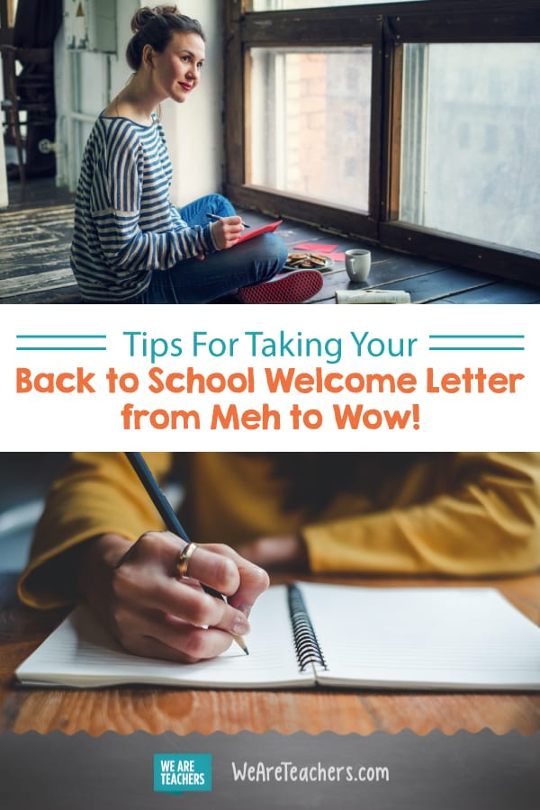 Tips For Taking Your Back to School Welcome Letter from Meh to Wow!