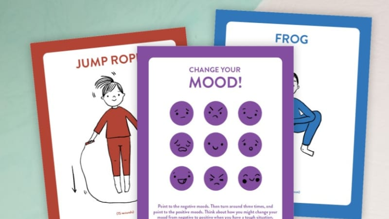 Sensory path printable to help students move, recharge and motivate their mood.