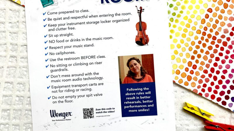 Free Printable: Rules of the Music Classroom Poster + Video