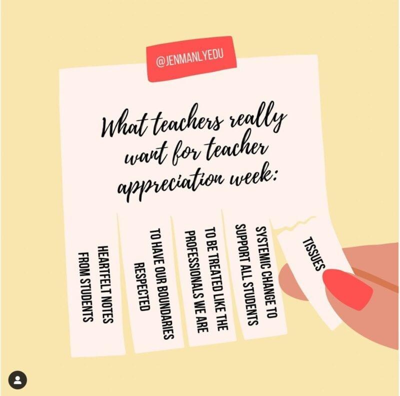 What teachers really want for teacher appreciation