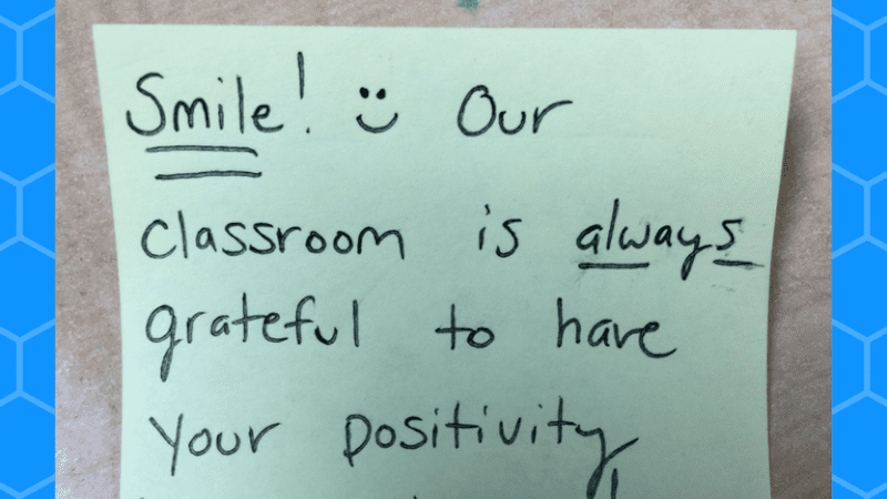 Why I Leave Positive Post It Notes for My Fourth Graders