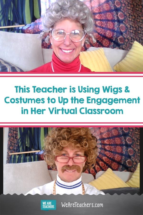 This Teacher is Using Wigs and Costumes to Up the Engagement in Her Virtual Classroom