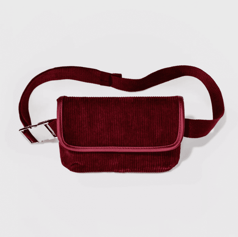 Red Corduroy Teacher Fanny Pack
