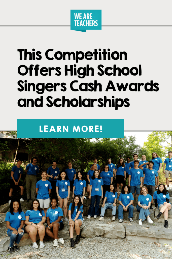 This Competition Offers High School Singers Cash Awards and Scholarships