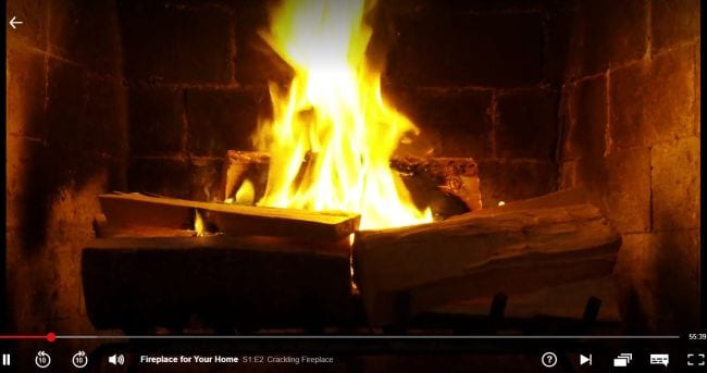 Winter Classroom Decorations fire in fireplace