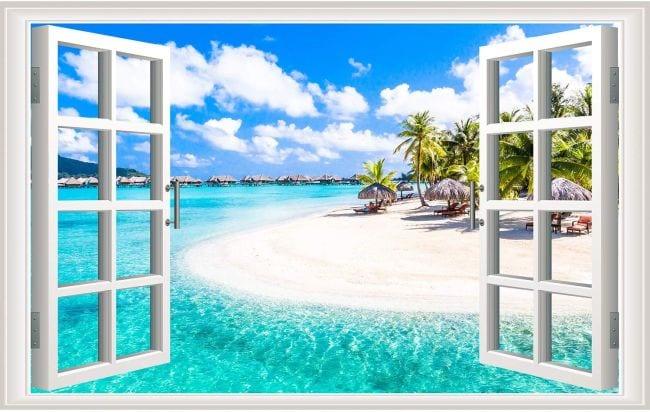 Fake window for winter classroom