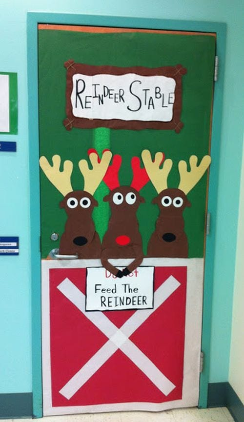 Winter Classroom Doors Apex Elementary Art