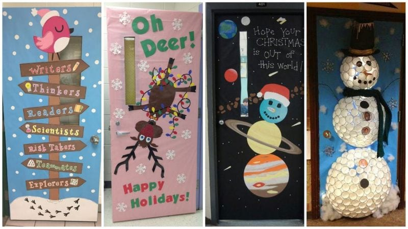 Winter and Holiday Classroom Doors