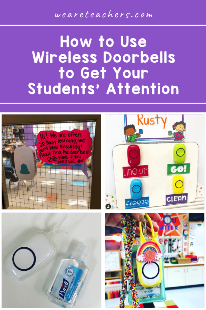 How to Use a Wireless Doorbell to Get Your Students' Attention