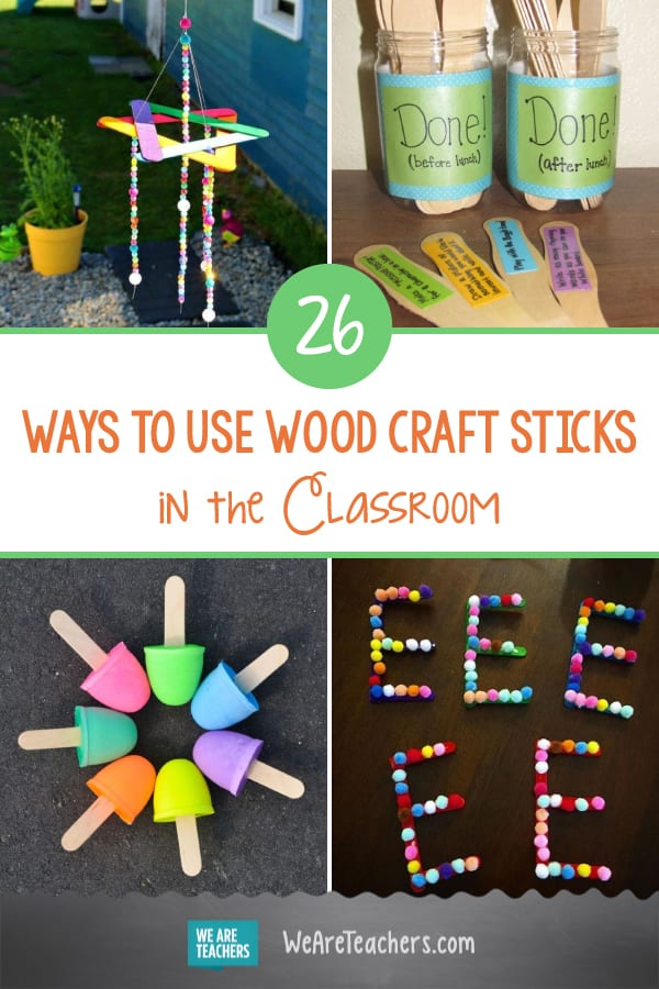 26 Wood Craft Sticks Projects and Ideas for the Classroom