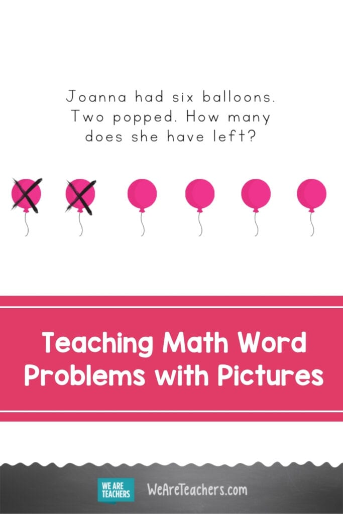 Teaching Math Word Problems with Pictures