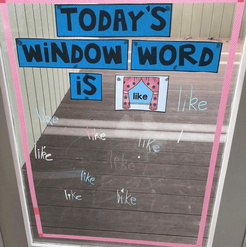 Write words on the window